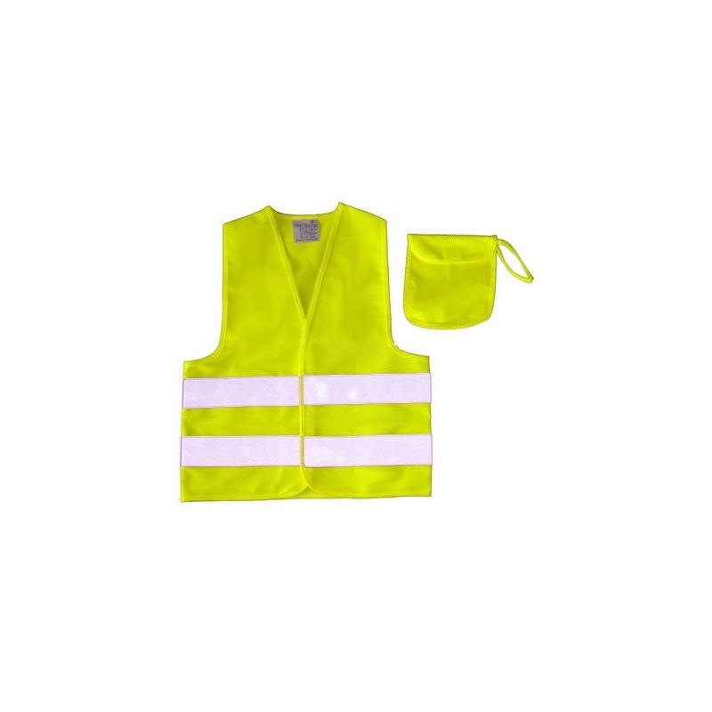 Kinder sicherheitswarnweste gelb mit tasche gr xs 3 6 jahre