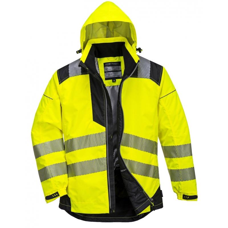 Warnschutzregenjacke leuchtgelb Gr Bekleidung & Schutzausrüstung XXL