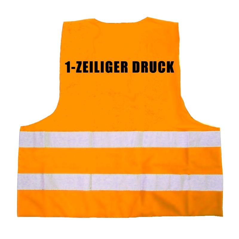 warnweste orange en iso 20471 2013 mit druck r cken 6 90. Black Bedroom Furniture Sets. Home Design Ideas