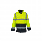 High Visibility Two-Tone Motorway Jacket Gelb/navy EN...