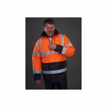 High Visibility Two-Tone Motorway Jacket Orange/navy EN...
