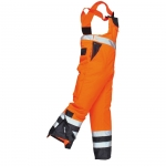 Kontrast Latzhose Orange/Marine