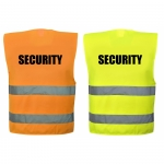 SECURITY Warnweste in 4  größen 4XL/5XL Orange