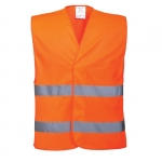 Warnweste Orange EN ISO 20471 Class 2 in 4 größen S/M, L/XL, XXL/3XL, 4XL/5XL