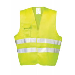 Warnweste Sicherheitsweste Gelb Signalweste Behörden EN ISO20471 Klasse 2