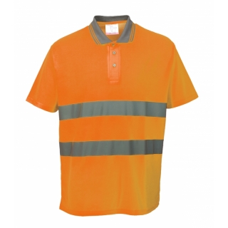 Hi-Cool Poloshirt Orange ISO 20471 XXL
