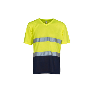 Hi Vis Top Cool Light V-Neck T-Shirt