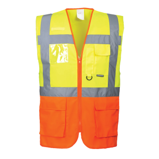Portwest Hochwertige Warnweste Executive - two tone gelb / orange
