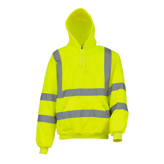 Hi Vis Pull-Over Hoodie EN20471 Klasse 3 gelb oder Orange S-3XL