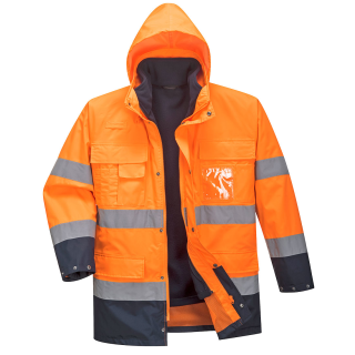 Warnschutz Jacke 3 in 1  orange/navy EN 20471 - EN397  S-3XL