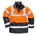 Kontrast Verkehrsjacke orange/navy EN 471 / EN 343